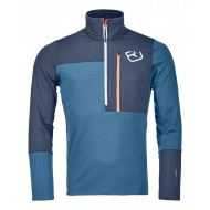 ORTOVOX- FLEECE LIGHT ZIP NECK MAN